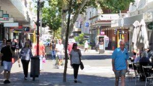people walking around Fremantle