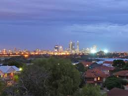 Perth by night as seen from Maylands