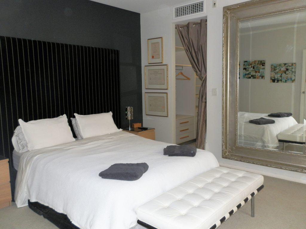 Ground floor bedroom with walk in robe