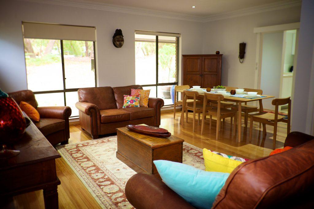Swanbourne Colonial Bushland Retreat living room