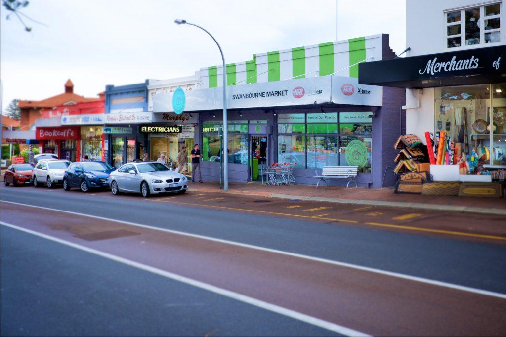 Swanbourne local shopping strip on Claremont Crescent