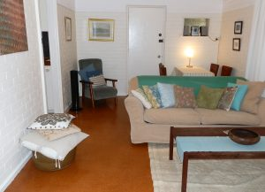 Monet's Retro Maylands accommodation living room