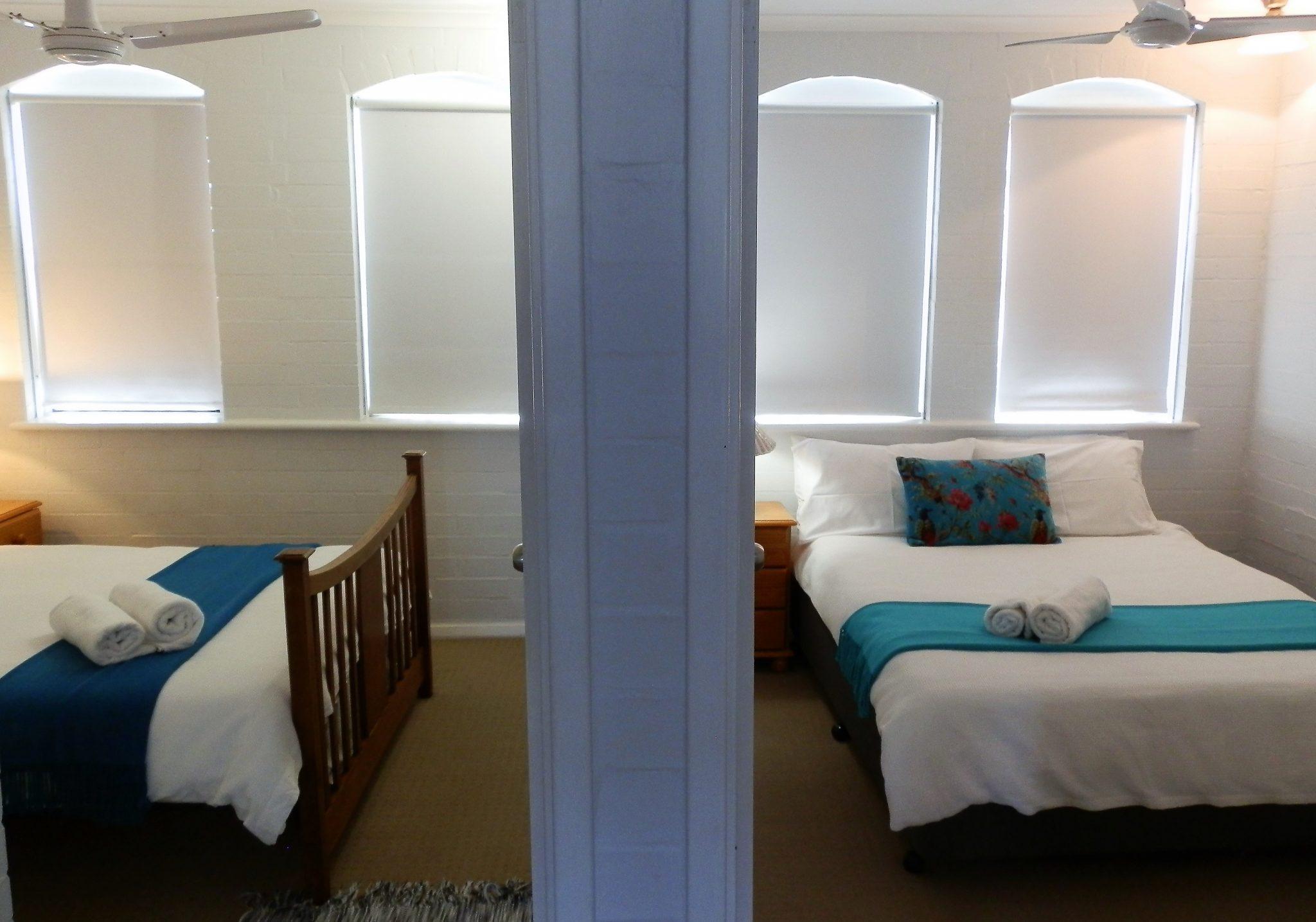 North facing bedrooms Suffolk street Villa Fremantle