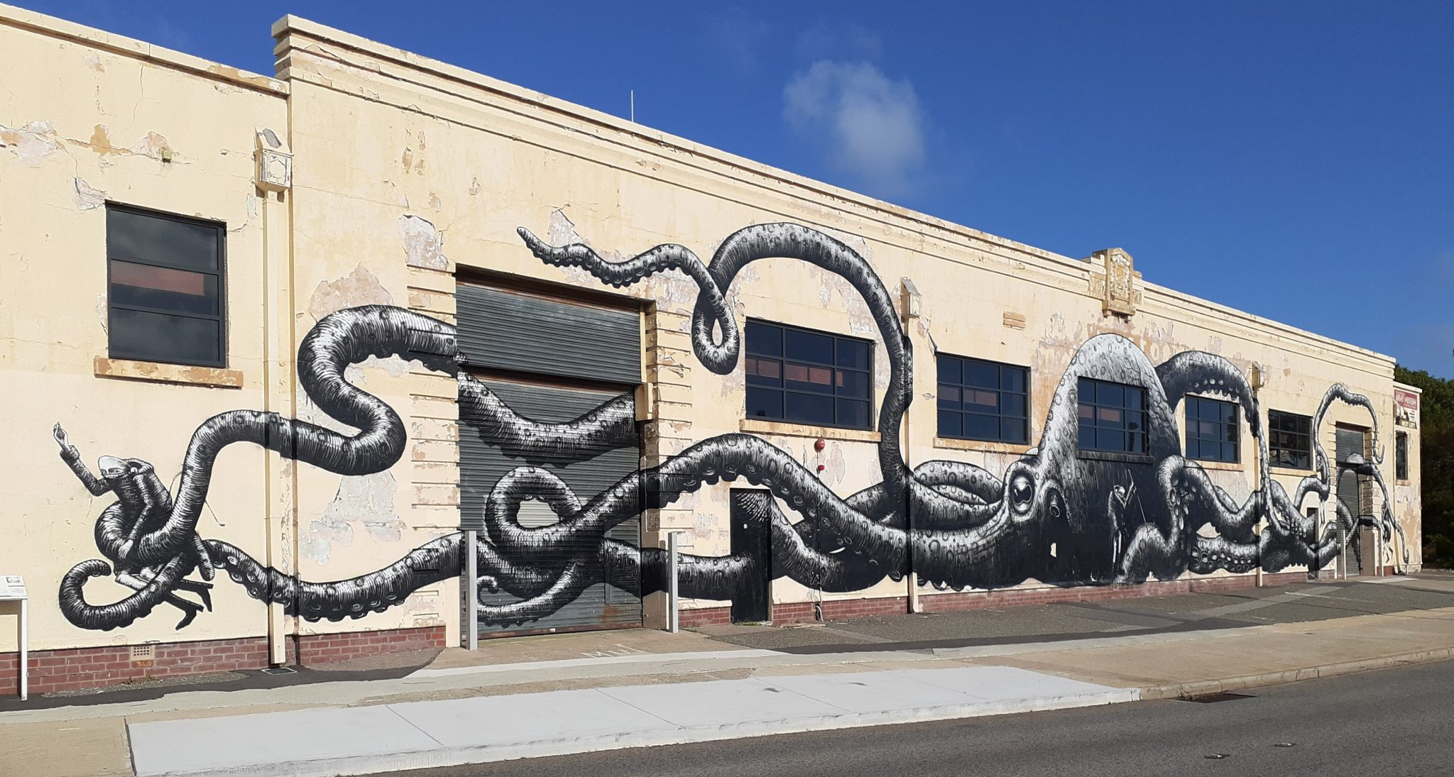Street Art at the entry to Fremantle
