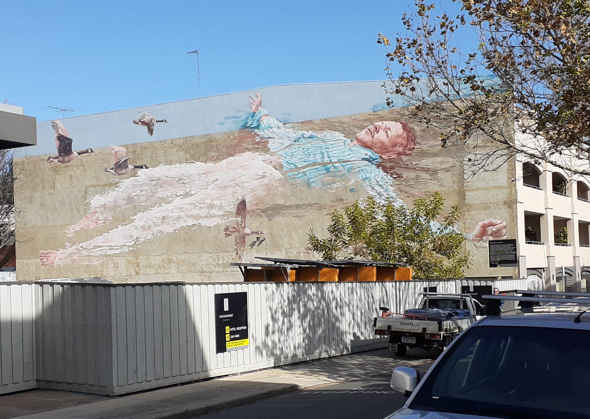 Bannister Square facade art