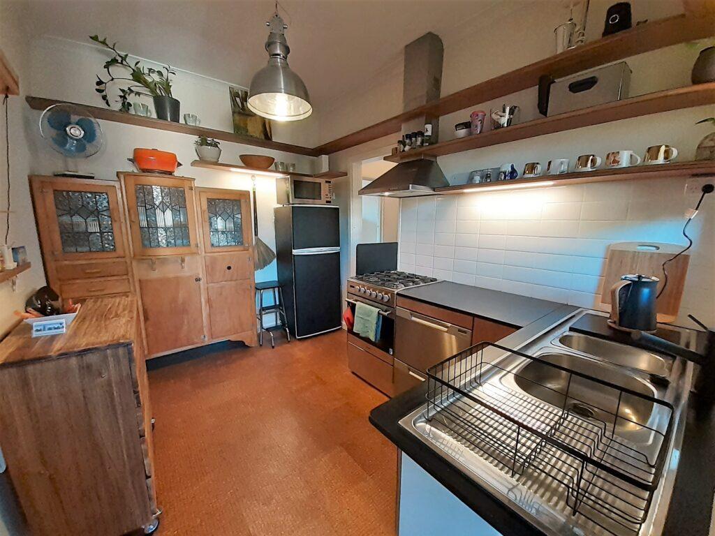 Entry through the kitchen at the Salon at Sevenoaks