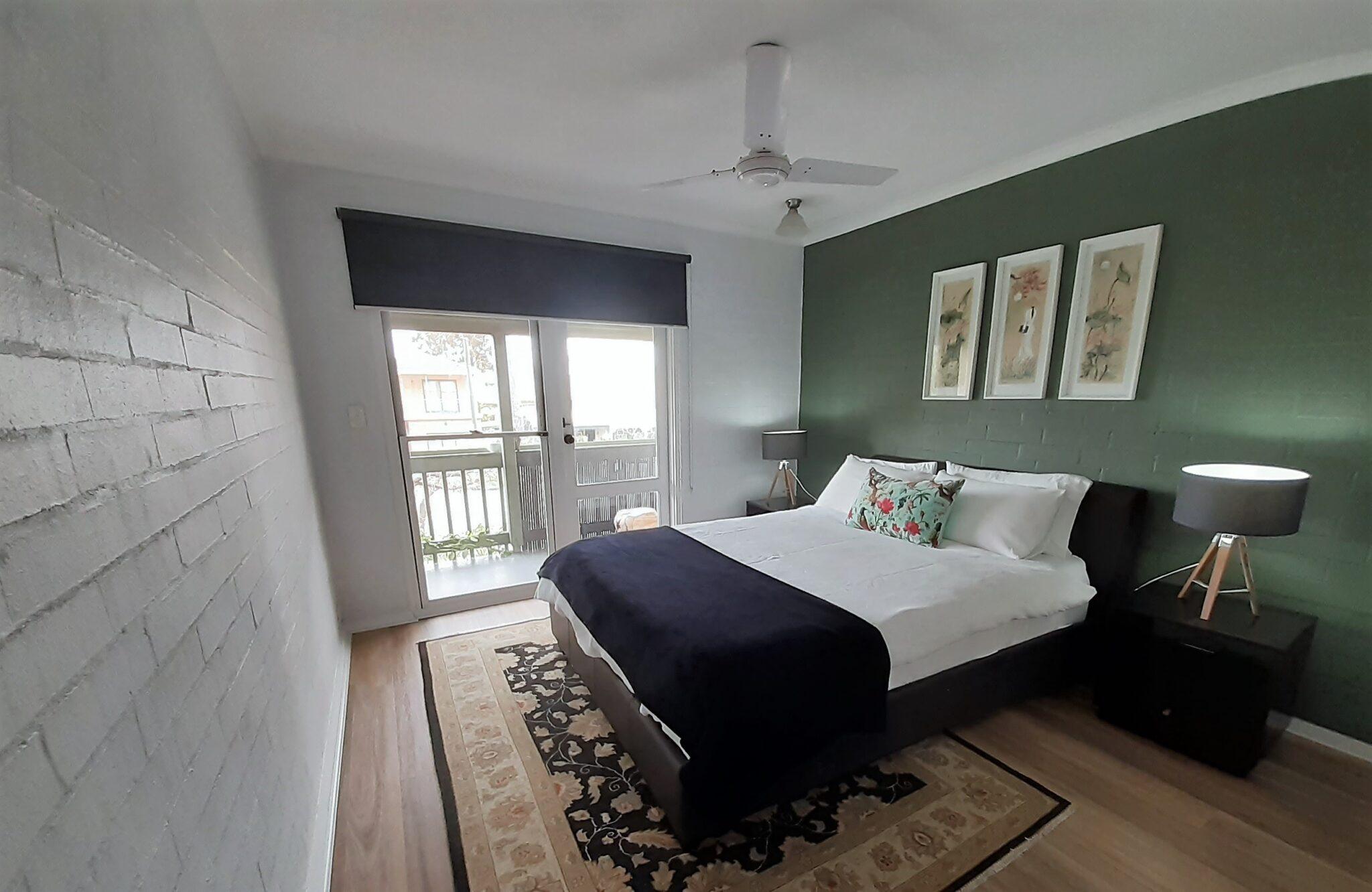 Suffolk street villa master bedroom